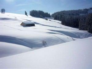 Hütte im Schnee-W620