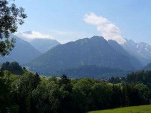 schöner Bllick auf Oberstorfer Berge-W620